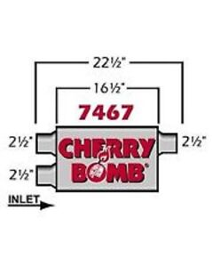 Cherry Bomb 7467 Muffler Exhaust 2 1 2 X 2 1 2 C D 4x 9 16 Oval Pro Series Nw