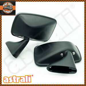 Pair Oe Spec Matt Black Classic Car Door Mirrors Mg Ford Mini Triumph