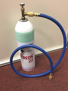 R22 R 22 Refrigerant 22 Recharge Kit Large 35 Oz Can Taper Hose