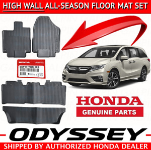 Oem Honda Odyssey High Wall All Season Floor Mat Set 2018 2019 08p17 Thr 100