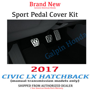 Genuine Oem Honda Civic Hatchback Lx Sport Pedal Covers 2017 Manual Transmission