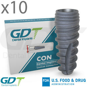10 Conical Connection Implant Rp Active Hex Dental Nobel Active Compatible