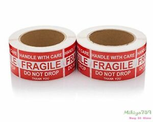 1000 Fragile Labels 2x3 Do Not Drop Self Adhesive Shipping Labels 2 Roll