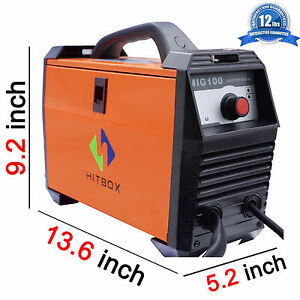 Mig 100a Gasless Welder 110v Mag Inverter Welding Machine Self Shield No Gas