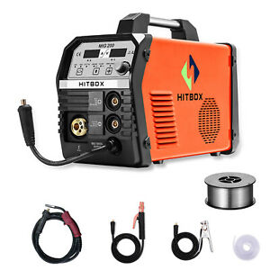 Mig Welder 200amp 220v Mag Gas Gasless Mig Welding Machine Stick Mma Lift Tig