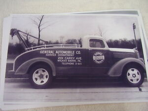 1939 Dodge Tow Truck Wilkes Barre 11 X 17 Photo Picture