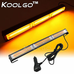 54w Cob Led Flashing Traffic Strobe Light Bar Beacon Emergency Warning Amber 18