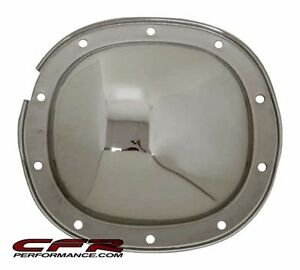 Chrome Steel 10 Bolt 7 5 7 625 Ring Gear Rear Differential Cover For Chevy Gm