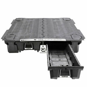 Decked Truck Bed Tool Boxes Black For Ford F150 Aluminum 15 2017 W 6 6 Bed