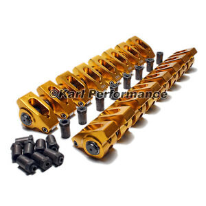 Small Block Chevy Aluminum Roller Rocker Arms 3 8 Stud 1 6 Ratio
