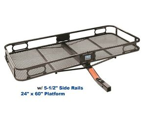 Trailer Hitch Mount 24 X 60 Cargo Basket Carrier For 2 Receiver 500lbs 63153