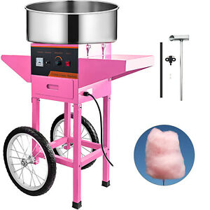 Cotton Candy Machine Cart Commercial Pink Floss Maker Bargain Sale First Class