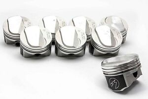 Speed Pro Trw Chevy 454 Ls6 30cc Dome Top Coated Forged Pistons Set 8 11 0 1 30