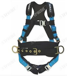 Tractel X large Belted Padded Fall Protection Construction Harness Auto Buckles