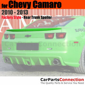 Primer Abs Rear Trunk Spoiler Wing For 2010 2013 Chevrolet Chevy Camaro Coupe