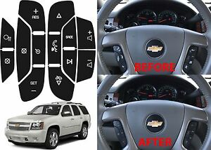 Gm Steering Wheel Button Decals Enclave Silverado Escalade Yukon Tahoe 07 14