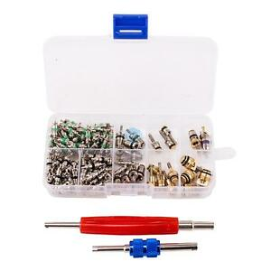 100pcs R12 R134a A C Valve Stem Cores Remover Kit Car Air Conditioning Repair