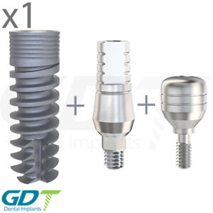 Spiral Implant Straight Abutment Healing Cap Internal Hex dental Implant
