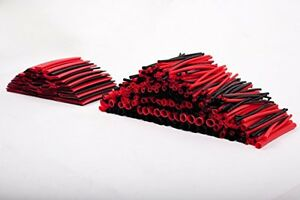 Summitlink 428 Pcs Red Black Assorted Heat Shrink Tube 10 Sizes Tubing Wrap Wire