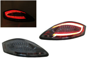 981 Style All Smoke Light Bar Led Tail Lamp For 05 08 Porsche Boxster Cayman