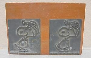 Printing Letterpress Printers Block Snoopy Dated 1968
