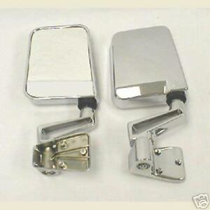 Mirror Pair Mirrors Chrome 1997 2006 For Tj 88 95 Half Doors For Jeep Wrangler