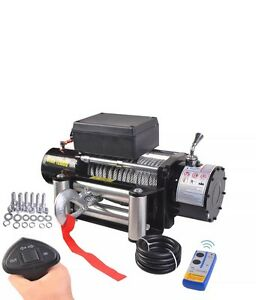 Classic 12000 Lbs 12v Electric Recovery Winch Truck Suv Durable Remote Control