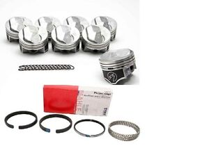 Chevy 7 4 454 Speed Pro Hypereutectic 30cc Dome Pistons Cast Rings Kit 30