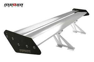 Megan Racing Universal Gt Type Aluminum Spoiler Wing Black And Silver 56 wx10 h