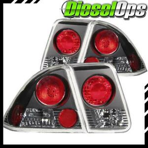 Anzo Usa Euro Taillights Black For Honda Civic 4 door 2001 2005