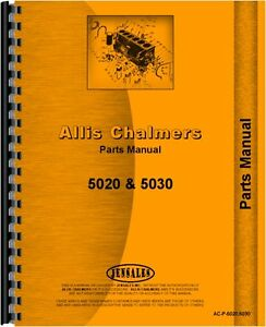 Allis Chalmers 5020 5030 With 430 Loader Tractor Parts Manual ac p 5020 5030