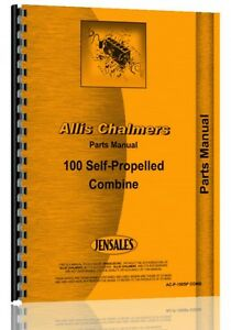 Allis Chalmers 100 Combine Parts Manual all Sn