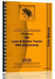 Allis Chalmers 620 Lawn Garden Tractor Parts Manual Ac p 620 Landg