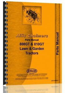 Allis Chalmers 808 810 811 Lawn Garden Tractor Parts Manual ac p 808gt