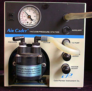 Cole Parmer Air Cadet Vacuum Pressure Station Mod7059 40 Medical Indust Cfm 0 54