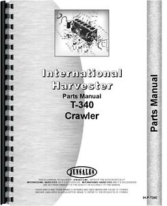 International Harvester T340 Crawler Parts Manual ih p t340