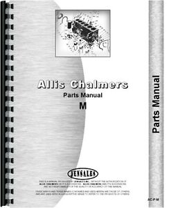 Allis Chalmers M Crawler Parts Manual all Sn s