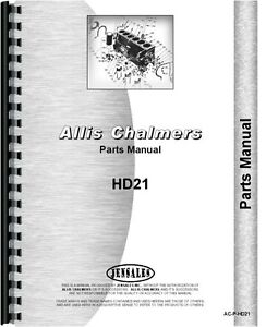 Allis Chalmers Hd21 Crawler Ts 21 Tractor Shovel Parts Manual ac p hd21