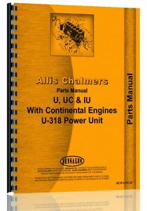 Allis Chalmers Iu Tractor Iu Engine Uc Engine Parts Manual ac p u Uc Iu