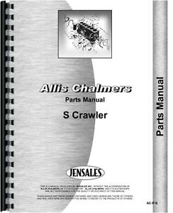 Allis Chalmers S Crawler Parts Manual