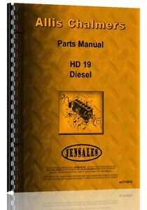 Allis Chalmers Hd19 Hd19f Dh19g Hd19h Crawler Parts Manual ac p hd19