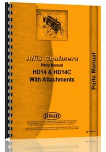 Allis Chalmers Hd14 Hd14c Crawler Parts Manual hd14 Crawler Hd14c Crawler