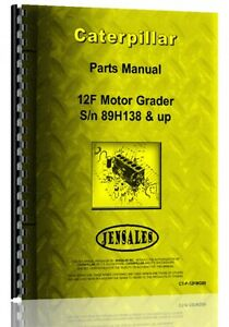 Caterpillar 12f Grader Parts Manual s n 89h1538