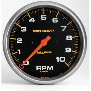 Autometer Pro Comp 5 In Dash Tachometer 0 10000 Rpm Gauge