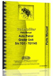 Caterpillar 11 Grader Parts Manual s n 7g1