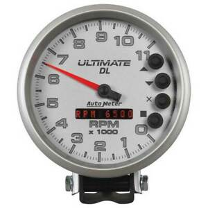 Autometer Ultimate Dl 5 Playback Tachometer 0 11000 Rpm White Gauge