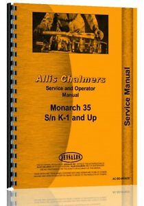 Allis Chalmers Monarch 35 Crawler Service Operators Manual