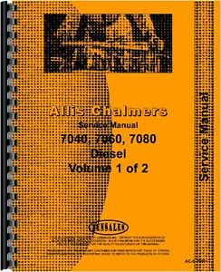 Allis Chalmers 7040 7060 7080 Tractor Service Manual ac s 7040