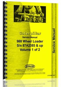 Caterpillar 988 Wheel Loader Service Manual s n 87a2385