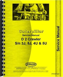 Caterpillar 933 Traxcavator Chassis D2 Crawler Service Manual ct s d2 3j 5j